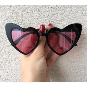 4f189cc1085de Óculos Feminino Coração Gatinho Lolita Proteção Uv400 Escuro · 3 cores