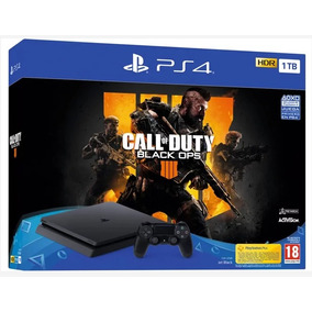 Ps4 Playstation 4 Slim 1tb + Juego Call Of Duty Back Ops 4