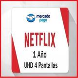 Cuentes Neflix 4pntallas 1año Mercado Pago