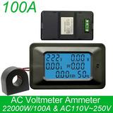 Wattímetro Medidor 6 Em 1 P06s-100 A - Ac 80-260 V