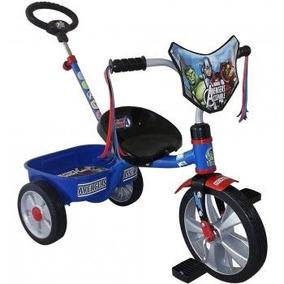 Triciclo Avengers Con Barra Empuje R12