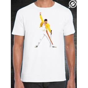 Playera Blanca Con Sublimado Freddie Mercury