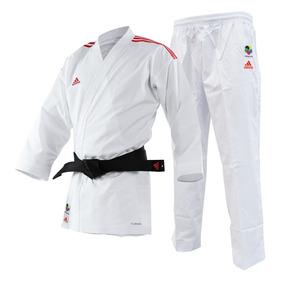 Kimono Karate adidas Adilight Branco Listras Vermelha