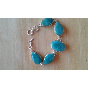 Pulseira Bracelete Esmeraldas Naturais Indianas