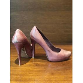 Sapato Salto Alto De Couro, Schutz, Número 36