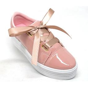 Tênis Feminino Plataforma Rosê