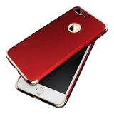 Funda Lujo Cromo 3 En 1 iPhone X 8 7 6 Plus 6s 5 Se