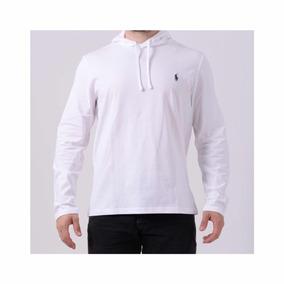 Camiseta Ralph Lauren Branca Manga Longa Gola V - Calçados 89283c7ce95