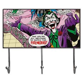 Cabideiro De Vidro Com 3 Ganchos - Dc Comics - Coringa - 40x