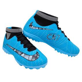 7686ffb2b727f Chuteira Society Botinha Nike Azul Adultos - Chuteiras no Mercado ...