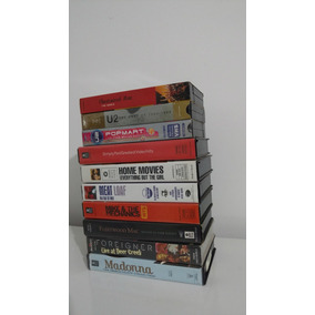 Combo 10 Vhs Musicais: Madonna Meat Loaf U2 Foreigner Etc...