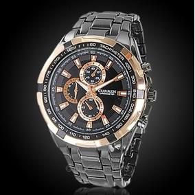 Relógio Currem Pulso/ Homem /aço Inoxidável Quartzo Promoção