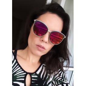9b20a82a5bfe7 Oculos Gatinho Espelhado Vermelho - Óculos no Mercado Livre Brasil