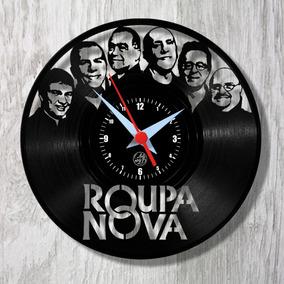 Roupa Nova Relógio Parede Vinil Disco Arte No Lp Rock Mpb