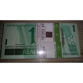 Raridade Lote 100 Cédulas Novas De R$1,00 Em Série