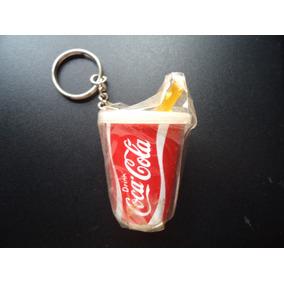 Chaveiro Antigo Da Coca-cola - Formato De Copo