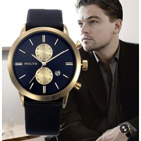 Relógio Masculino Luxo Couro Sport De Pulso Exclusivo Estilo