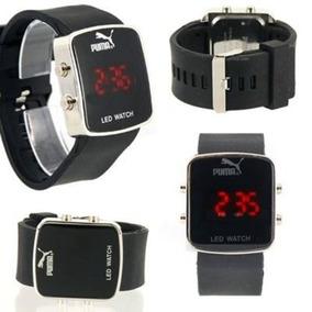 Lote 5 Relógios Silicone Led Digital P/ Homem E Mulher