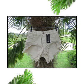 Short Jeans Feminino Desfiado Roupas Femininas