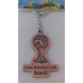 Chaveiro Taça Copa Do Mundo 2014 Brasil Logomarca Mãos Mundo