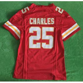 Jersey Kansas City Chiefs Mujer Dama Rojo Local Charles 25 8c593328945