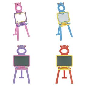 Lousa Infantil Quadro De Desenho 2x1 Dupla Face Magnetico