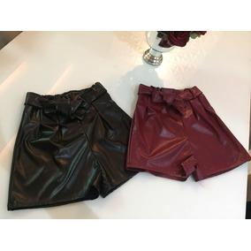 Shorts Em Couro Eco Coleção Outono Inverno 2018 Boutique