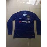 Camisa Chelsea 2018-2019 Manga Longa Original - Frete Gratis decfe9704ceb8