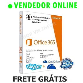Pacote Office 365 (2016) Vitalício + Chave Original + 5 Pcs