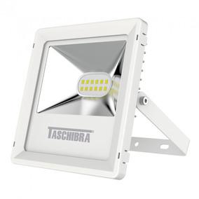 Refletor Led 10w Branco Tr Taschibra 3000k Luz Amarela Eh