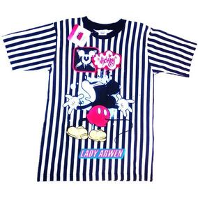 Mickey Mouse Playera Rayas Camiseta Unisex Niñ  Original 23e5d7763378d