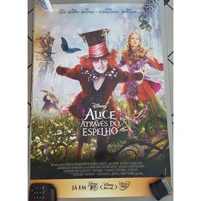 Pôster Cartaz Alice Através Do Espelho 93x63 Cm