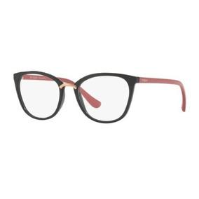 Armação Oculos Grau Vogue Vo5121 2553 51 Preto Brilho Rosa 5e293d6723