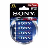 Pila Aa Sony Alcalinas Stamina Plus Xtra Power Blister X 4