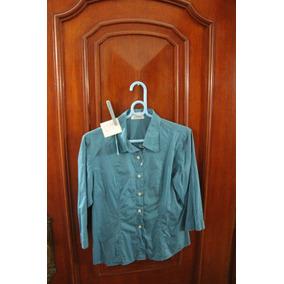 = Roupa Lote 624 Mulher Camisa Social Davenza 44 Nova Azul
