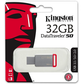 3 Pendrive 32gb Dt50 Kingston Usb3.1 - 3.0 - 2.0 - Metal