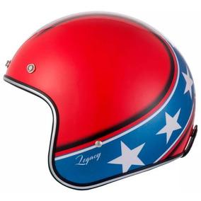 Capacete Zeus 380h Solid K57 Vermelho Azul Café Racer Harley. R  299 7d74b4f44e