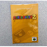 Manual Original Para Mario Party 2