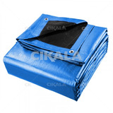 Lona Blackout Azul Preta Ck300 Micras Impermeável 3x4 Mts
