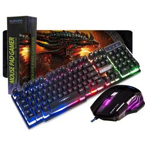 Teclado Semi Mecânico 152c + Mouse Gamer + Mouse Pad Grande