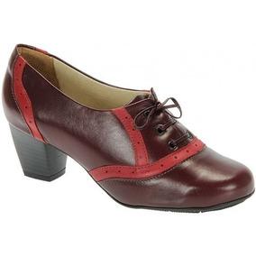 Sapato Retrô Bordô