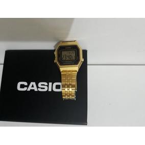 f3ac4fb36b1 Relógio Casio Dourado Vintage Retrô Original