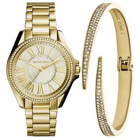 b03c50d1b1c Relogio Michael Kors Feminino Branco Dourado - Relógios De Pulso no ...