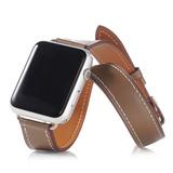 1cc7160d46d Pulseira Couro Estilo Hermes Double Tour Apple Watch 42mm Cr