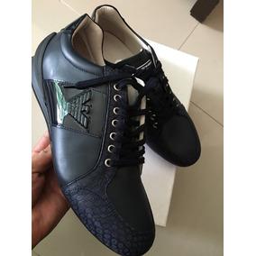 Sneakers Zapato Tenis Emporio Armani Número 9 Azulitos