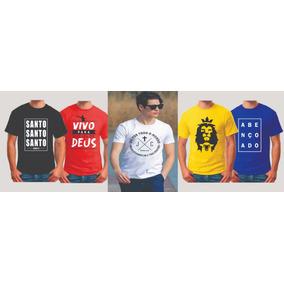 Kit De 5 Camisetas Gospel