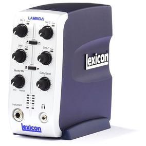 Placa De Audio Usb Externa Lexicon Lambda