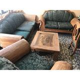 Mueble De Sala Rústica Madera Pino 4 Piezas