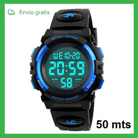 Reloj Digital Deportivo Para Niño Calendario Sumergible 50mt