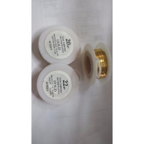 Alambre De Diseñador Chapa De Oro Gold Calibre 20 A 24